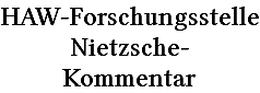 Schriftzug FS Nietzsche-Kommentar