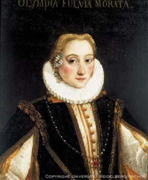 Bildnis der in Heidelberg begrabenen italienischen Dichterin und humanistischen Gelehrten Olympia Fulvia Morata (1526-1555)