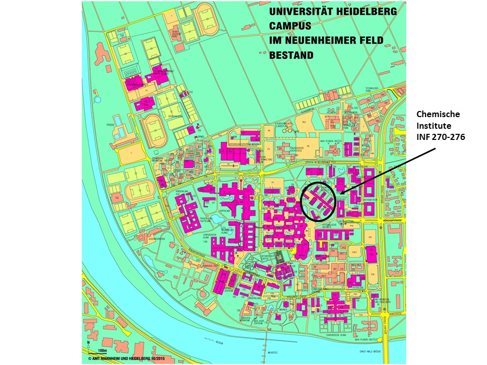Heidelberg University Campus Map.Map