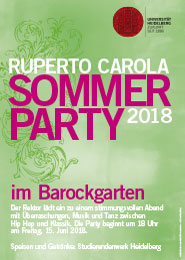 Plakat Sommerparty 2018