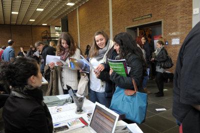 Informationsstand der Hochschule für Jüdische Studien