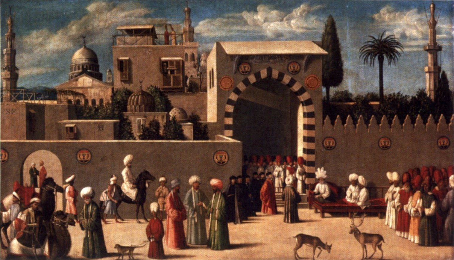 Anonymous Venetian Orientalist Painting _the Reception Of The Ambassadors In Damascus _ 1511 _the Louvre