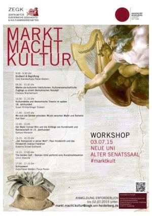 Workshop Markt Macht Kultur Poster