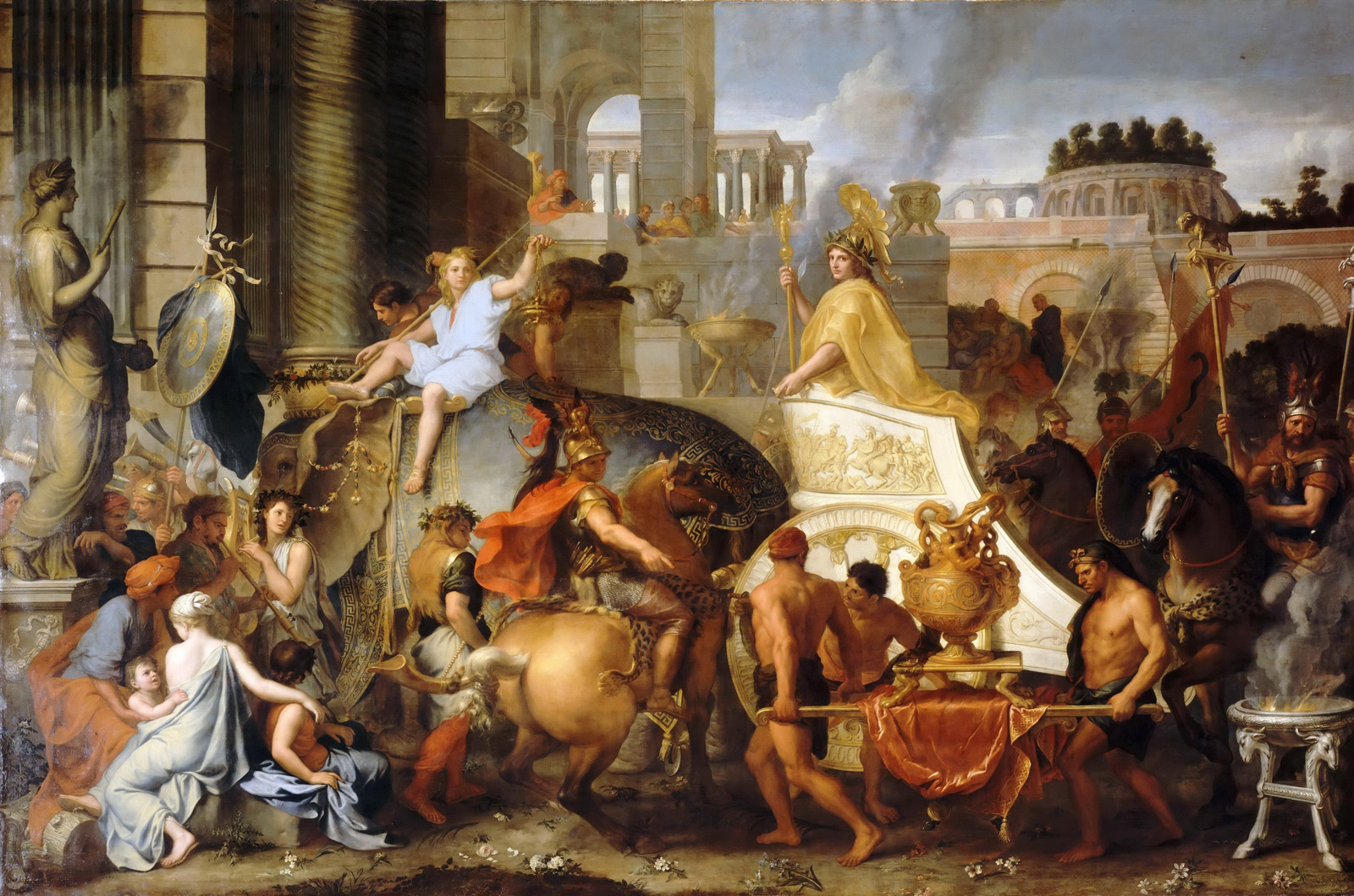 Charles Lebrun: Einzug Alexanders in Babylon. 1661-1665 © https://upload.wikimedia.org/wikipedia/commons/c/c1/Charles_Le_Brun_-_Entry_of_Alexander_into_Babylon.JPG.