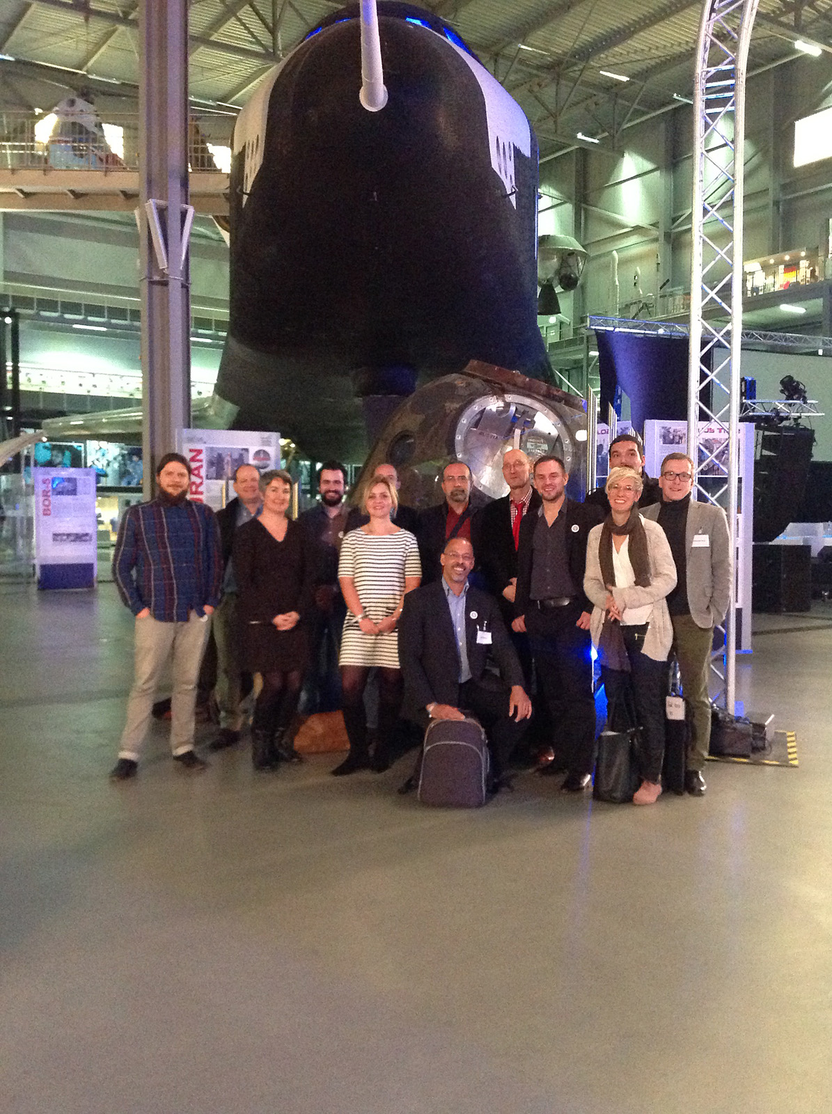 24 October, 2015 | Speakers in front of the Buran Space shuttle