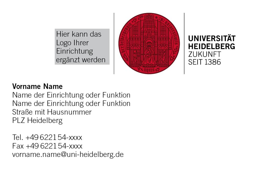 Visitenkarten Service Universität Heidelberg