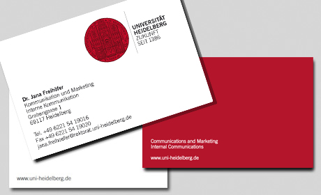 Business Card Service Heidelberg University