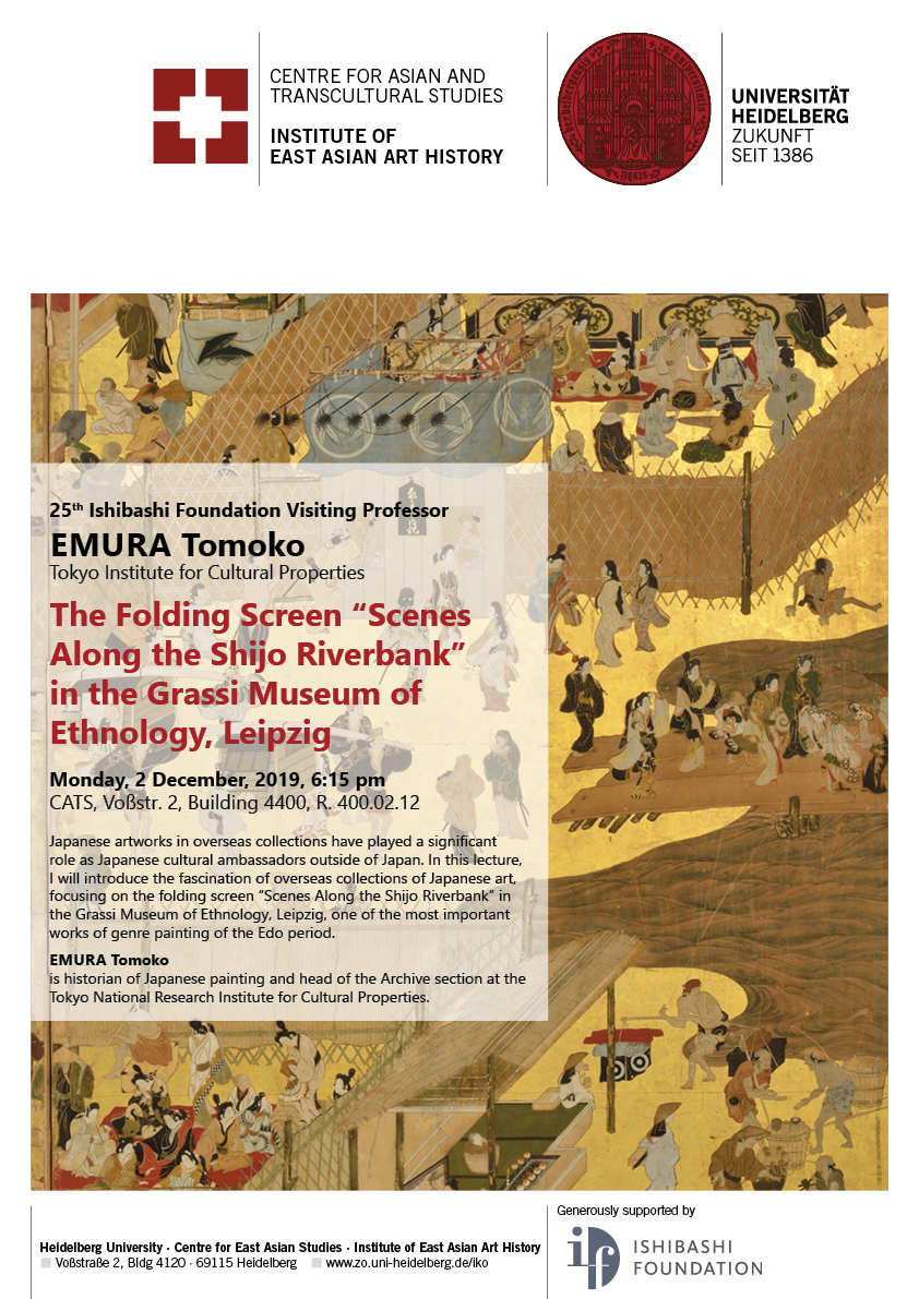 2. December 2019 | EMURA Tomoko: The Folding Screen 'Scenes Along the Shijo Riverbank' in the Grassi Museum of Ethnology, Leipzig