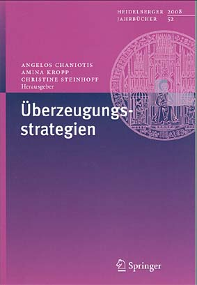 """Persuasion Strategies"" is the subject of the 52nd volume of the Heidelberg Yearbooks"