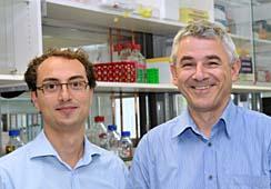 Prof. Dr. Hellmut Augustin (rechts) und Dr. Andreas Fischer