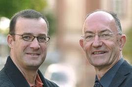 Prof. Dr. Hans-Werner Wahl (rechts) und Dr. Noam Shoval
