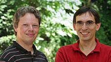 Dr. Sandro Wimberger (links) und Dr. Tobias Paul